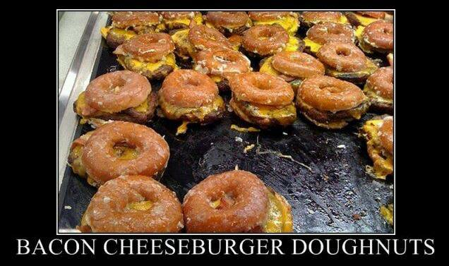 Bacon Cheeseburger doughnuts…..your argument is invalid | Baconcoma ...