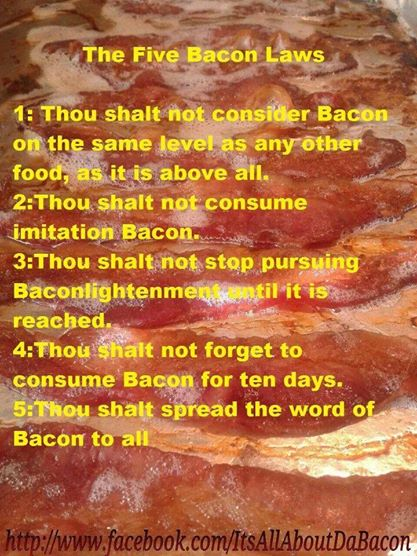 5 laws of bacon