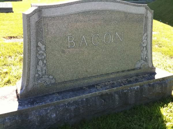 Bacon tombstone