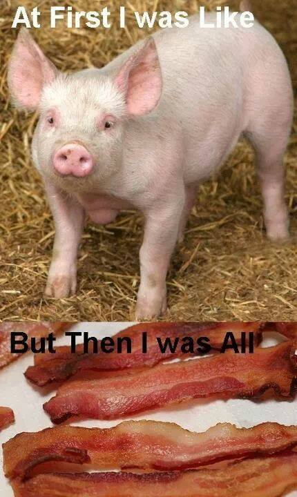 first I was like bacon