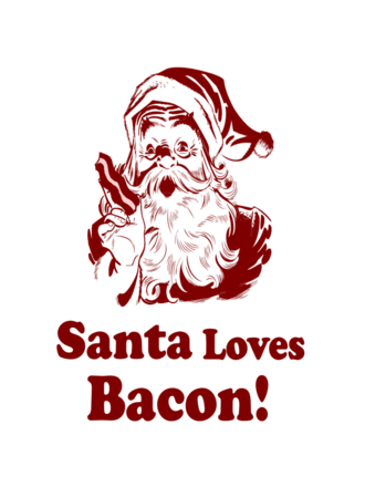 Santa loves bacon
