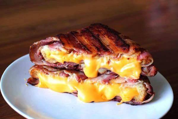 Bacon-Wrapped Grilled Cheese Sandwich