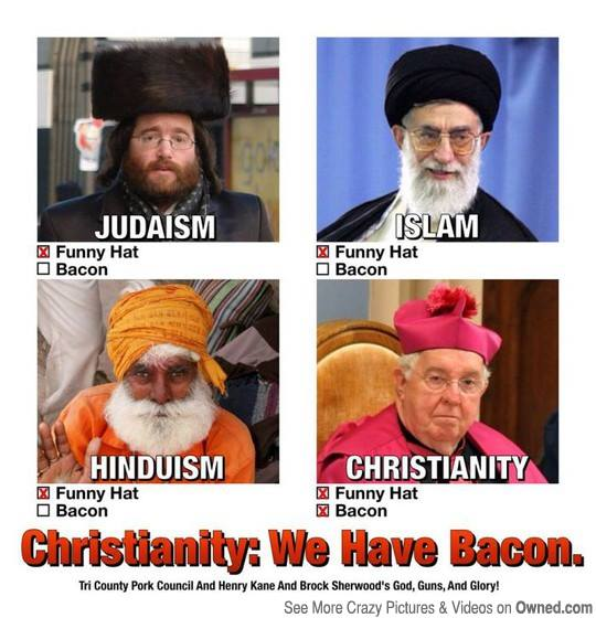 Christianity Bacon