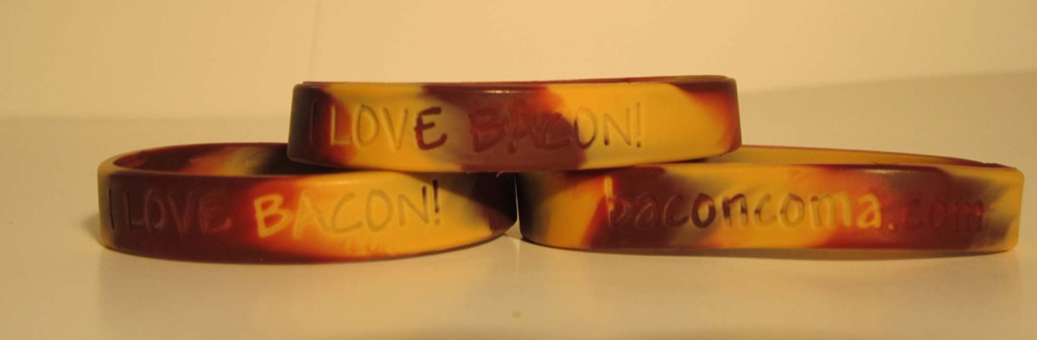 I love Bacon wristbands